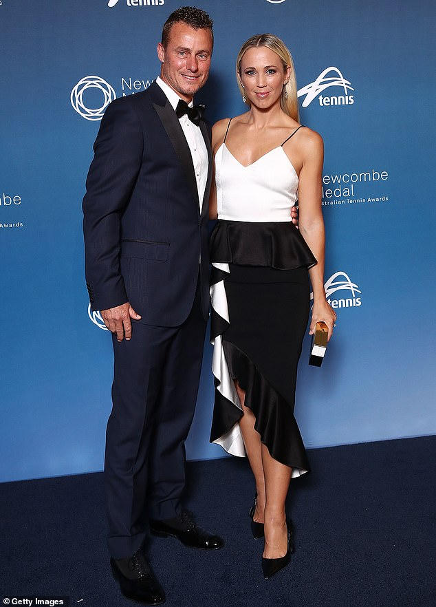 Property grand slam! Tennis star Lleyton Hewitt, 39, and his actress wife Bec, 36, (pictured together) reportedly dropped $12.7million on a Georgian-style Melbourne mansion in 2017