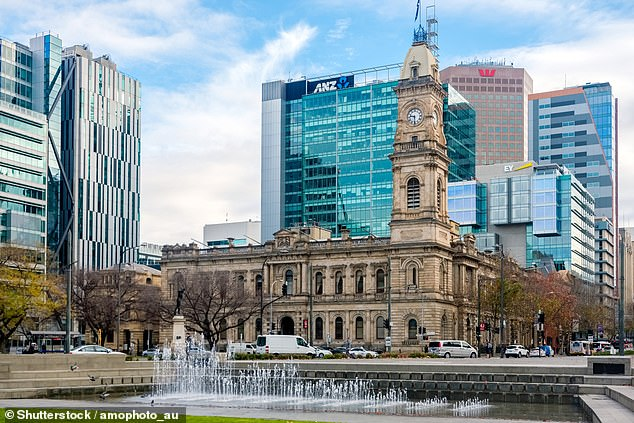 Adelaide (Victoria Square pictured) was the capital city most likely to be home to meth heads