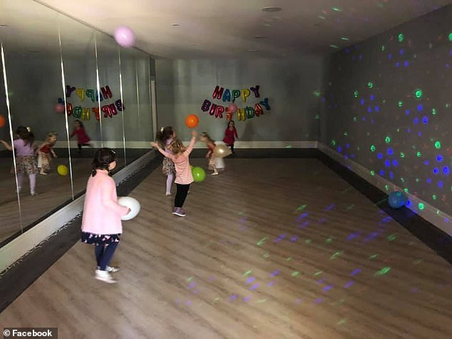 Time to boogie: 'We have a dance studio. It's great for the kids parties. It was a wasted space off the garage under the house so with three daughters who dance we fitted it out with some mirrors'