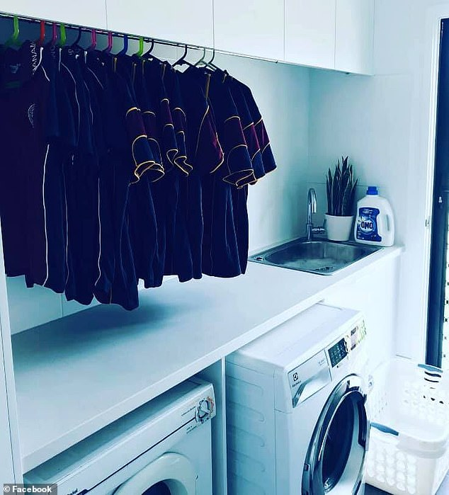 A big time saver! 'Concealed hanging rail in my laundry for school uniforms. Saves having to peg them outside on the line. Straight from the washing machine to the coat hanger'