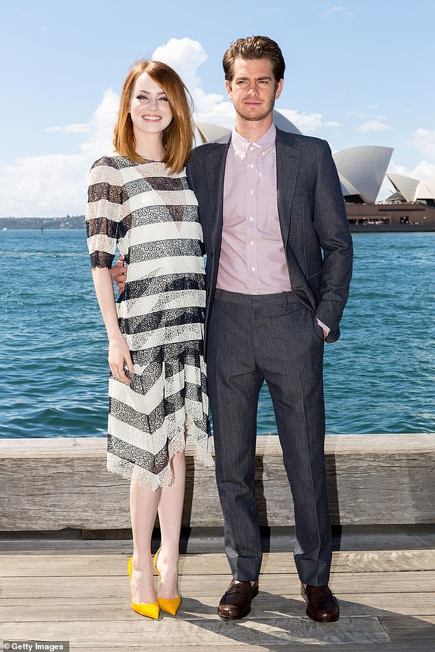 Sad split: Andrew Garfield and Emma Stone dated for three years and appeared in The Amazing Spider-Man 1 and 2 together before they sadly split in October 2015