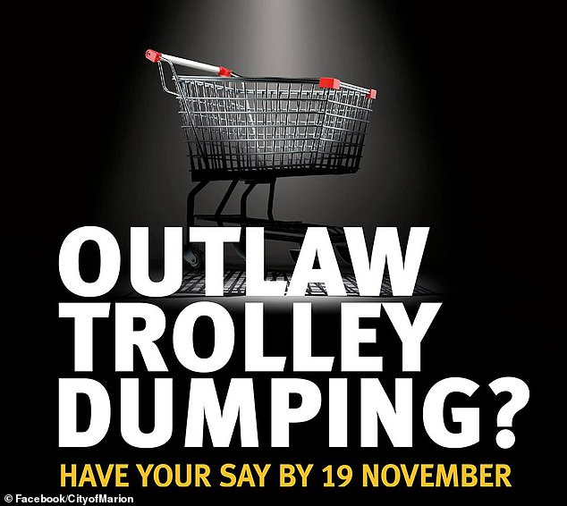 A Facebook post by the City of Marion from October last year, urging locals to have their say on the trolley fine by-law