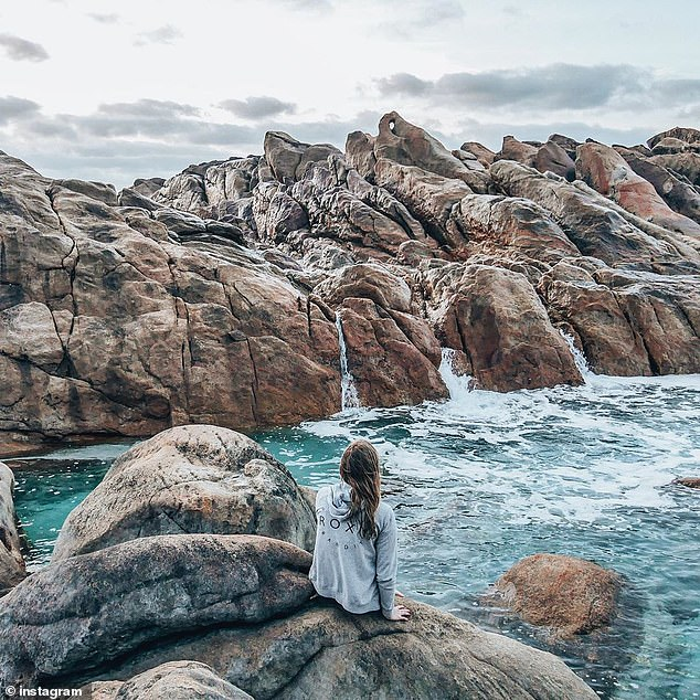 The Singaporean man was standing on rocks at Injidup Nature Spa (pictured) in Yallingup, 256km south of Pert