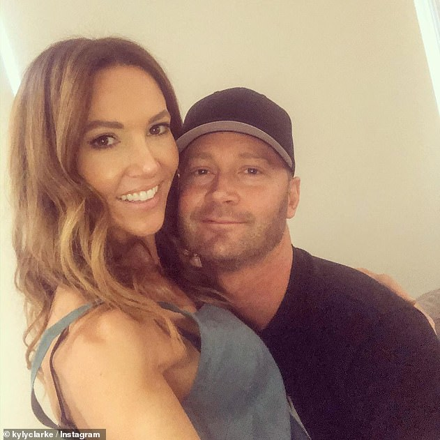 Moving on: Michael and Pip first hooked up after the retired cricketer's split from his wife, Kyly (pictured), in September last year