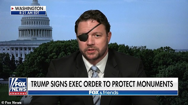 Texas Republican Dan Crenshaw has suggested that Marxist followers are to blame for protests over Confederate statues across the country