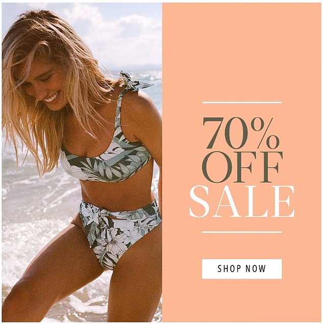 Swimwear brand Seafolly has launched a 70 per cent off sale after it announced the company announced it entering voluntary administration and cutting over 120 staff on Monday
