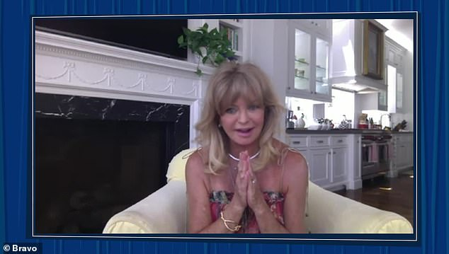 Goldie:Kate's own mother, Goldie Hawn, even sent a message, stating, 'Hi it's Goldie. Happy Pride. I love you. Let's celebrate'