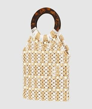 The beaded crochet bag has been heavily discounted and will only cost you $21