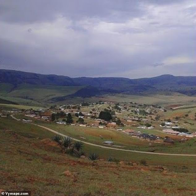 A grandmother died of a heart attack after being held at gun point and forced to watch as her three terrified granddaughters were brutally raped in front of her in Impendle (pictured) in KwaZulu-Natal province, South Africa