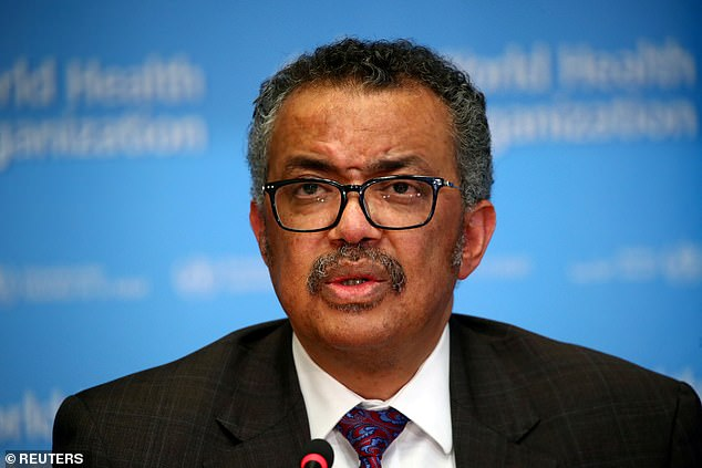 WHO director Dr Tedros Ghebreyesus said the spread of the virus was actually speeding up, despite lockdowns being loosened around the world