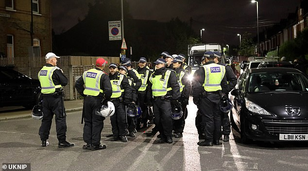 A dispersal zone was imposed at Tooting Bec Common in South West London on Saturday