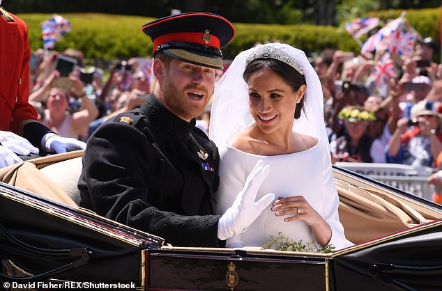 The Duke of Sussex, 35, who married the former American actress (pictured together), 38, in May 2018, with the pair currently living in LA with their son, Archie, one, is thought to have ditched his modest budget further when nearing Meghan's due date a year later