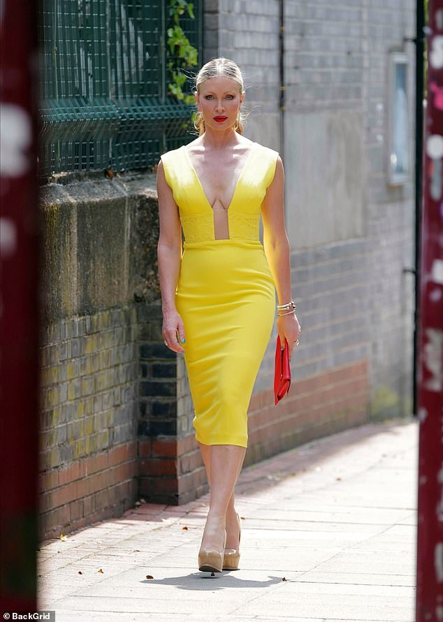 Walking tall: Caprice still looked incredible in her daring ensemble no matter how she feels
