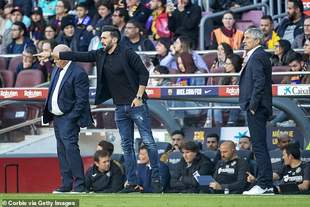 The Barcelona assistant can often be assertive in his role on the touchline