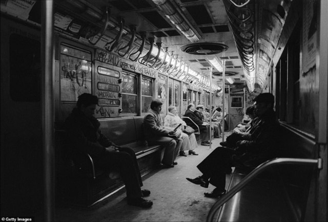 Earlier this week, several officials warned that any drastic cuts to the NYPD would set the city back 30 years in its efforts to control crime (pictured, a graffiti-covered subway car in the 1980s)