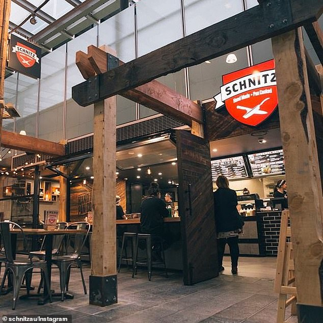 Zanin, 42, started stealing Schnitz (a Sxchnitz restaurant pictured), from November 2014 and continued until January last year