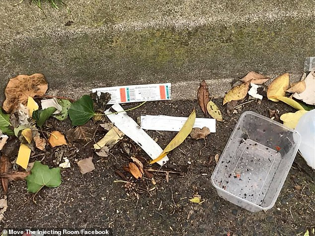 Other photos show mountains of rubbish piling up on nearby Egan Street, as well as human faeces and the casings of needles