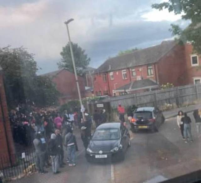 A block party was held in Leicester on Saturday night into Sunday in the area of the city that has seen a spike in cases