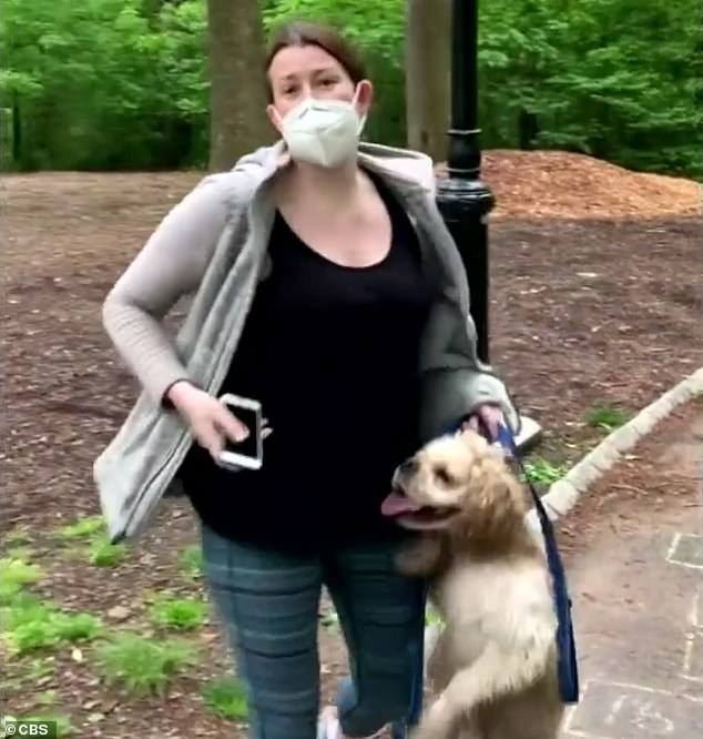 One of the first 'Karen' incidents was in Central Park when Amy Cooper (pictured) called the cops on black birdwatcher Christian Cooper, alleging that he was threatening her, when all he'd asked her was to do was put her dog on a leash