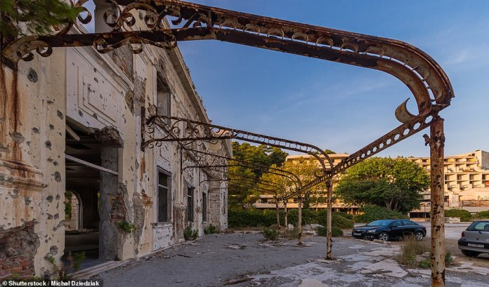 The resort of Kupari is around six miles from enchanting Game of Thrones location Dubrovnik. It now looks like a Call of Duty level