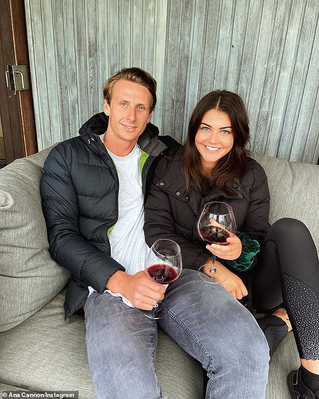 'I'm a big softie': On Tuesday, former AFL player Daniel Gorringe gushed about his girlfriend Ana Cannon... after professing his love for her on Big Brother. Both pictured