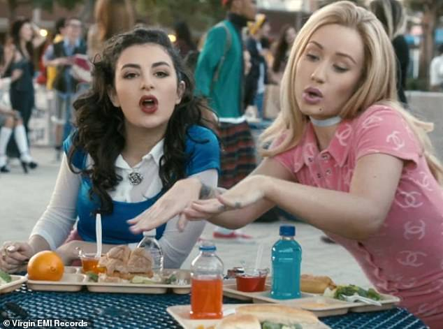 Spot the difference: Charli, (left) is a huge fan of 1995 movie, Clueless and famously played Tai in 30-year-old Iggy Azalea's music video for Fancy which was released in 2014