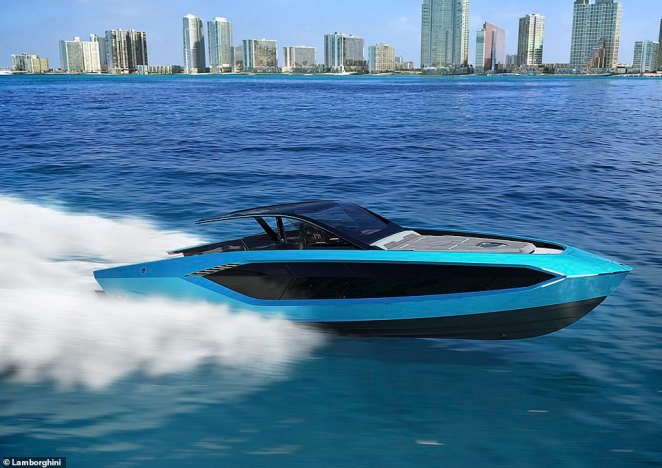 Lambo for the seas: This is the new Tecnomar for Lamborghini 63 - a superyacht created by the iconic car maker and a fellow Italian boat builder