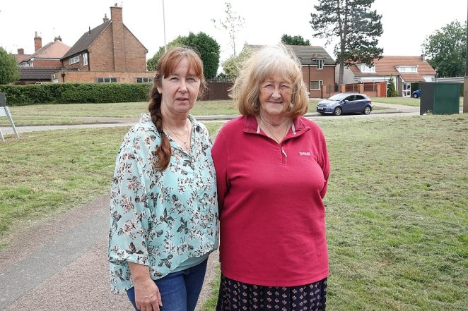Kathleen McDonagh, 77, who lives inside the border in Scraptoft with her daughter Mary (seen together), 56, faces a wait of at least two weeks before she can enjoy relaxed lockdown measures and be able to head to the pub, hair salons, restaurants alongside the rest of Britain