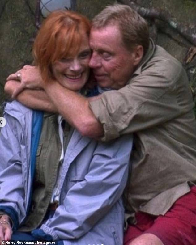 Charming: The last picture Harry uploaded showed him cuddling Sandra when she went to surprise him before he was crowned King of the Jungle on I'm A Celebrity
