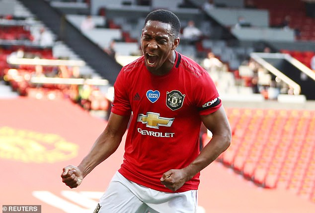 Martial, now United's number 9 again, is a more mature figure now, according to Evra