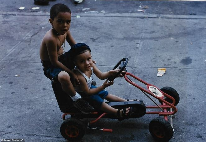There were glimmers of optimism in the 1980s. Wall Street and real estate began to pick up. Culturally, the city thrived as cheap rents and squatting attracted musicians, artists and writers. Hip hop, which started in the 1970s, began to take hold. Above, two boys enjoy the day on a quadracycle in Bushwick, Brooklyn