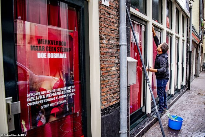 Late last month Red Light United, a union for red light district window workers, wrote to the government to urge it the reopen the sex industry earlier than the original date of September 1