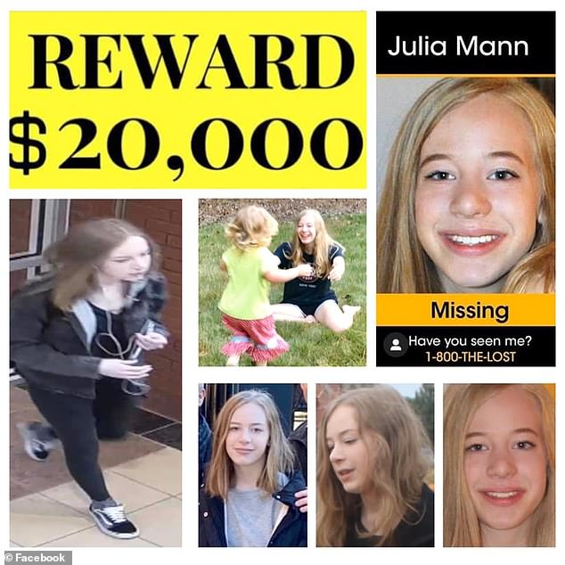 A $20,000 reward had been offered for information leading to Mann's safe return