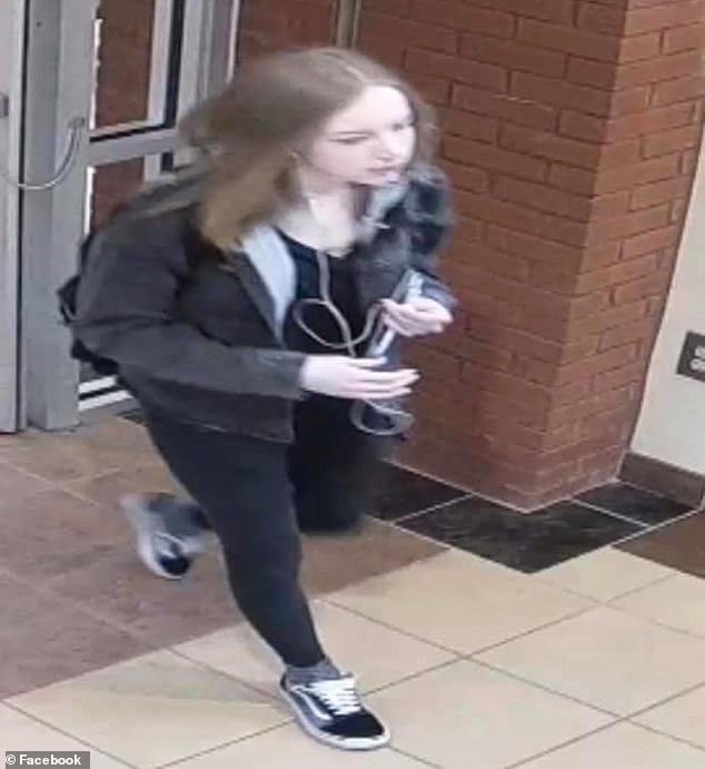 Last glimpse: Mann is seen on surveillance video just hours before her disappearance on February 20