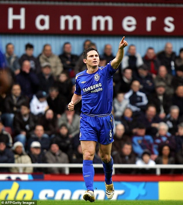 Lampard is used to abuse from Hammers fans from his Chelsea playing days (above)