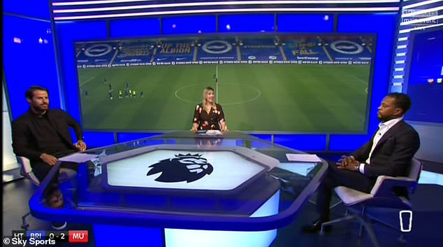 The pair were discussing Brighton v Manchester United on Sky Sports tonight