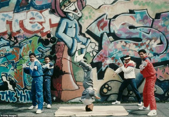 During the 1970s, many landlords couldn't or wouldn't pay their property taxes and let their buildings fell into disrepair. Many buildings were abandoned and boarded up. There were also fires in the Bronx. Hip hop is said to have started in the Bronx in the 1970s. Above, teenagers breakdance next to a wall withgraffiti in the Bronx in 1984