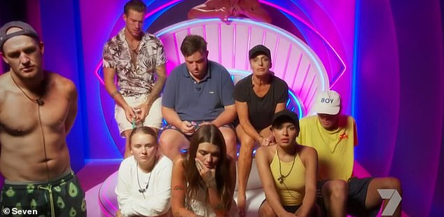 Surreal: A trailer for Sunday night's episode of Big Brother Australia offers a glimpse of the shocking moment the contestants are told of a coronavirus scare on set