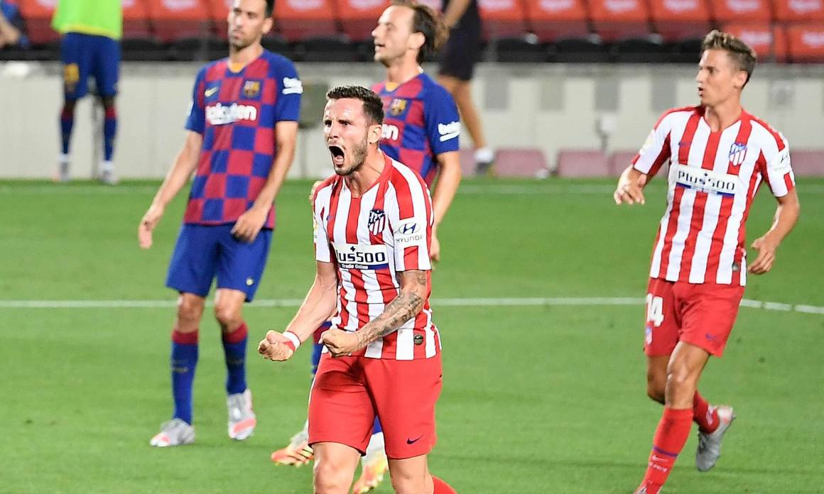 Barcelona 2-2 Atletico Madrid: Saul Niguez scores two penalties ...
