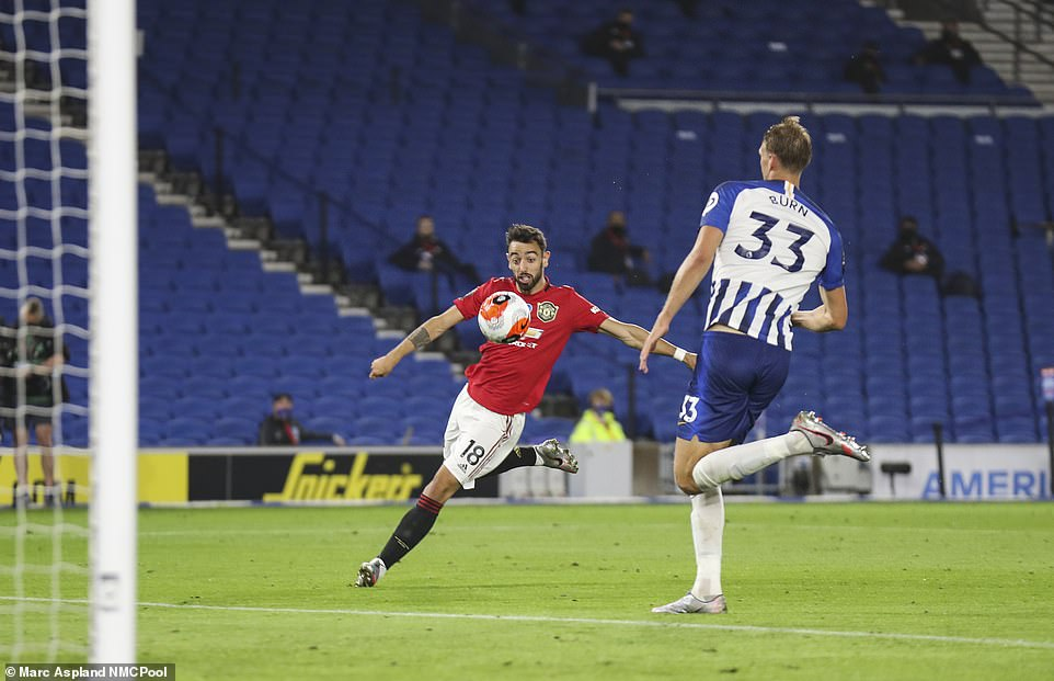 Despite a mini revival from the Seagulls, Fernandes was on hand to volley home a stunning third to kill the game