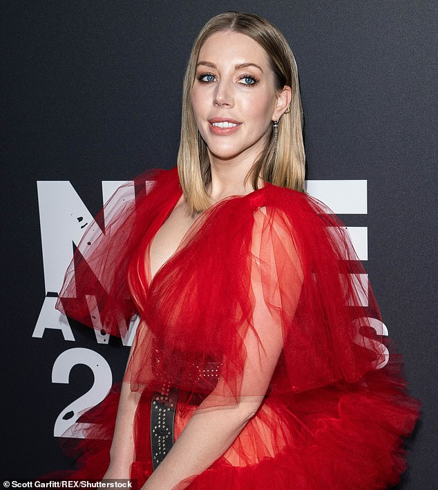 Pictured: Katherine Ryan, pictured at the NME Awards at the O2 Academy in Brixton, London, UK on Feb 12, 2020. Ryan spoke out during her podcast '