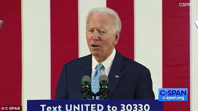Joe Biden, 77 ,briefly lost his cool after he was questioned over his mental sharpness during a campaign event in Delaware on Tuesday