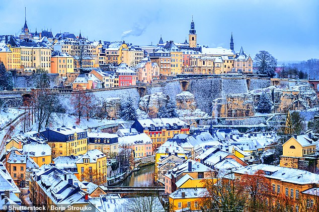 Europeans suffer through bitterly cold winters but reap the benefit of living in one of the world's richest regions (pictured: Luxembourg)