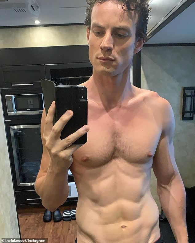 Australian actor Luke Cook (pictured) has revealed how he spent just one week getting shredded for his nude scene debut on Netflix's Chilling Adventures of Sabrina (CAOS)