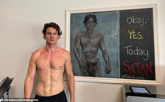 'I had a week': Luke listed six ways he prepared for the scene in just seven days, including advice from health and lifestyle experts, as well as changes to his diet and fitness routine