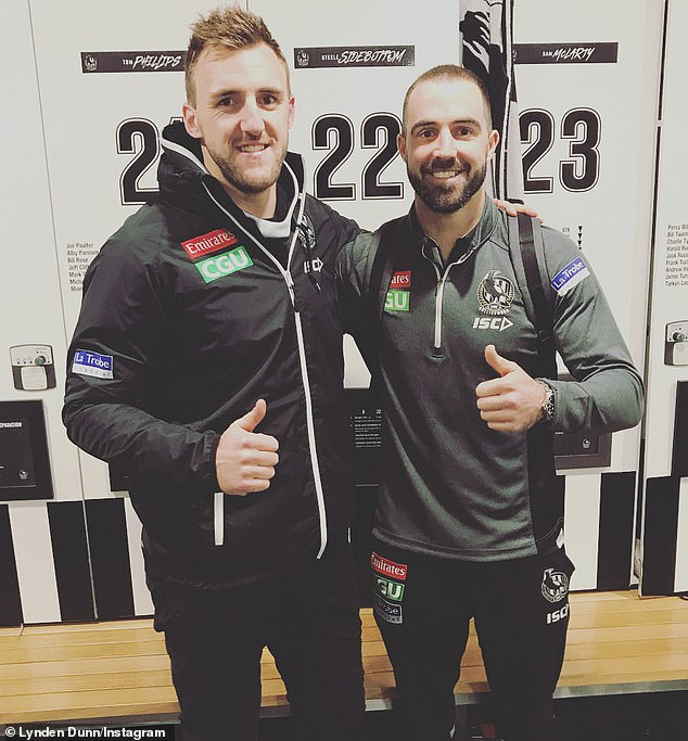 Sidebottom, 29, and teammate Lynden Dunn (both picutred), 33, spent Saturday night at the home of teammate Jeremy Howe. Dunn then went home, before Sidebottom continued on with his night
