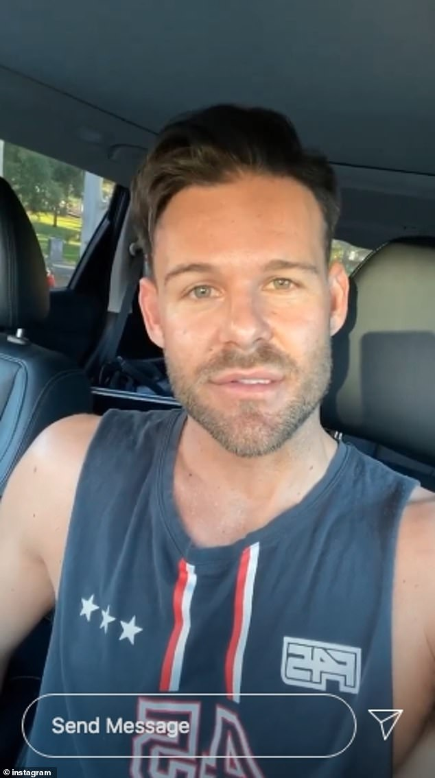 Speaking out: In a series of videos posted to his Instagram Stories on Wednesday, Carlin, 31, also confirmed the split