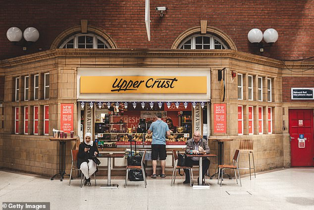 Many food and drink outlets have been hit hard by the fact that millions of Britons have worked from home during the coronavirus crisis. Pictured,Marylebone Station in London