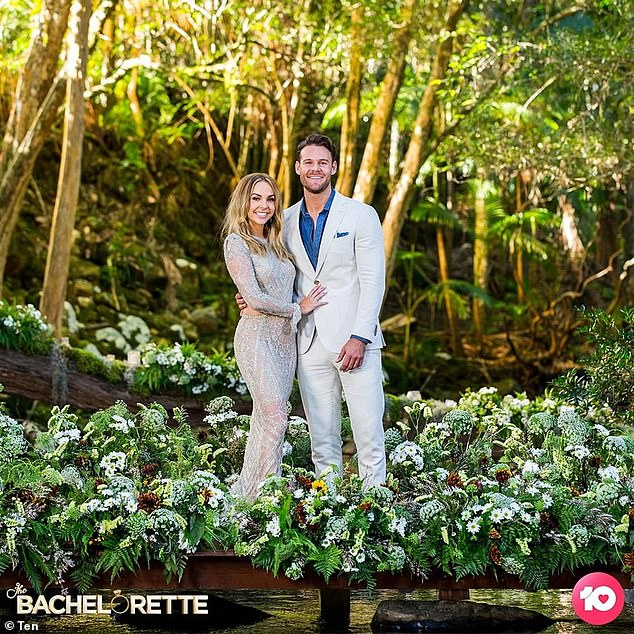Making a choice: After meeting on The Bachelorette in June last year, Angie left viewers reeling after picking Carlin over fan favourite Timm Hanly in the finale