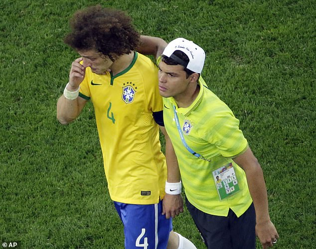 Silva has consoled his team-mate brazilian after scraping by Germany in the world Cup 2014